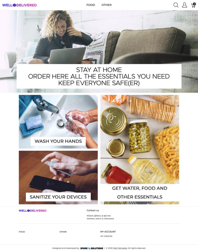well-delivered homepage desktop