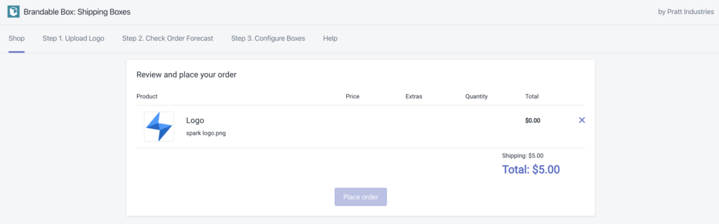 Brandable Box Shopify app by Spark Solutions